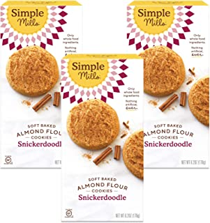 product image for Simple Mills Almond Flour Snickerdoodle Cookies, Gluten Free and Delicious Soft Baked Cookies, Organic Coconut Oil, Good for Snacks, Made with whole foods, 3 Count (Packaging May Vary)