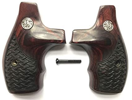 Gun Grip Supply Smith & Wesson S&W J Frame Grips Boot Rosewood Basketweave  Design