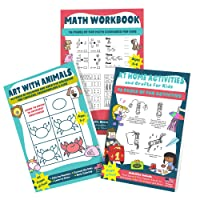 Activity Books for Kids Ages 4-8 | Coloring Book, Math Workbook and Homeschool Activities and Crafts