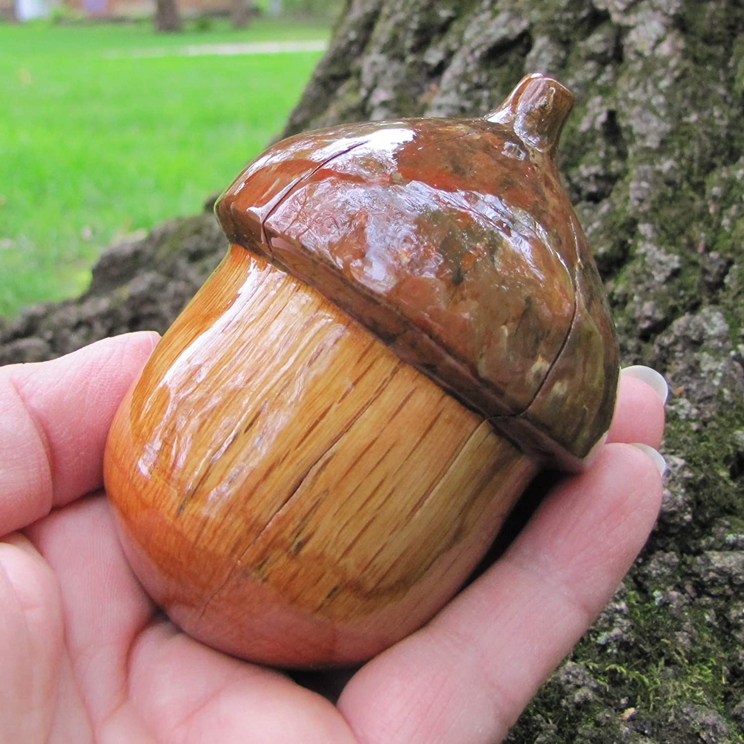 Amazoncom Wooden Acorn Decoration For Your Home Handmade