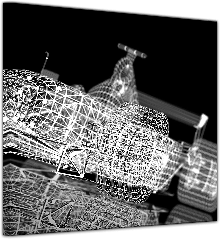 Bilderdepot24 Cuadros en Lienzo Coche de F1-100 x 100 cm - Listo tensa, Directamente Desde el Fabricante: Amazon.es: Hogar