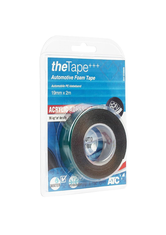 theTape 320104 - Cinta Adhesiva de Doble Cara, de Espuma de Polipropileno, para automó viles, 19 mm x 2 m para automóviles ATC