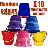Set Of 10 cubos de playa de colores mixtos