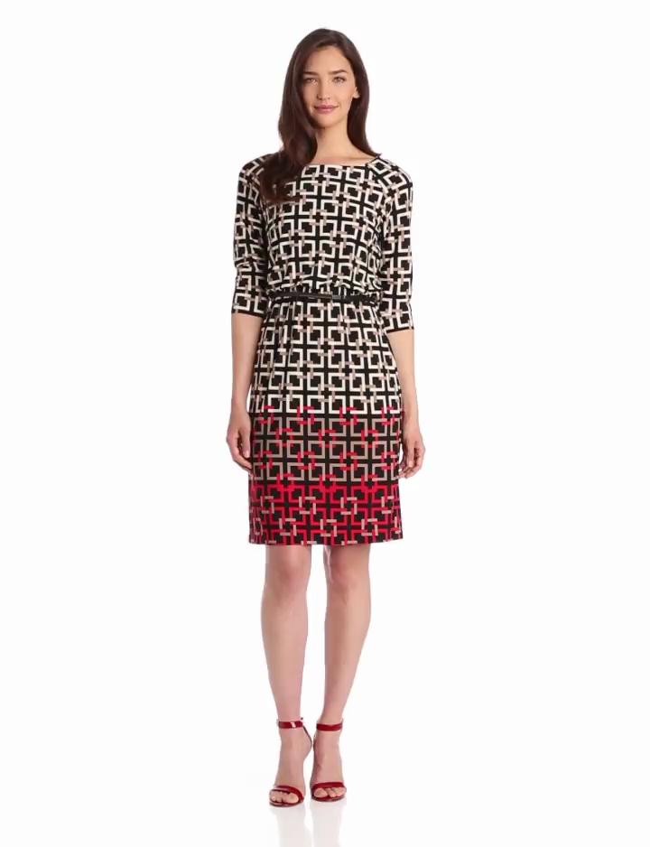 Jessica Howard Womens Blouson Dress