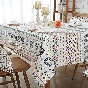 Tischdecke Einfachen Modernen Wohnzimmer Stoff Tischdecken Tisch Couchtisch  Tischsets Bar Tischdecken (Größe: 140X140 Cm