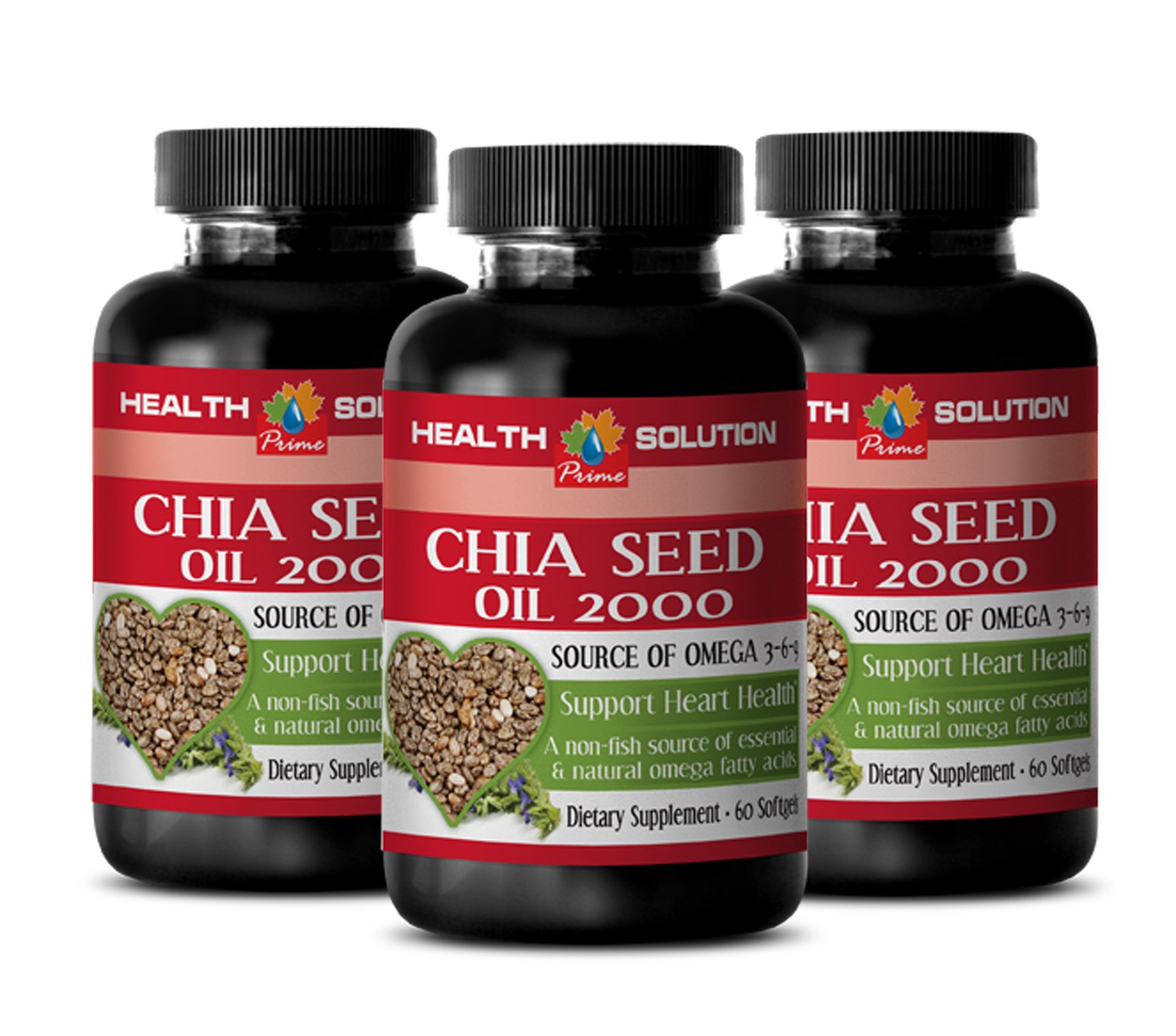 Salvia oil - CHIA SEED OIL 2000 - increase mental energy and focus (3 bottles)