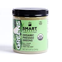 Smart Pressed Organic Greens Superfoods Juice Powder Single Serving Cold-Pressed...