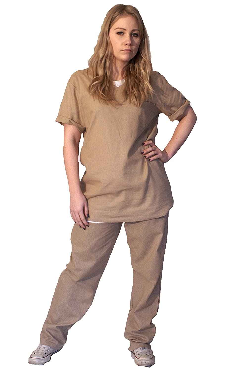 Amazon.com The Cosplay Company Orange or Beige Ladies Prison Suit (Large/beige) Clothing  sc 1 st  Amazon.com & Amazon.com: The Cosplay Company Orange or Beige Ladies Prison Suit ...