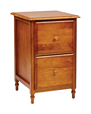 OSP Designs Knob Hill Collection File Cabinet, Antique Cherry Finish