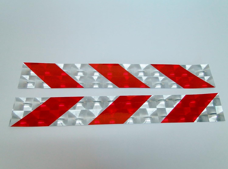 2 unidades, dise/ño con hologramas en relieve, reflectantes, adhesivas, 40 x 6 cm Set de placas de marcaci/ón Orcal