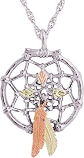 product image for Black Hills Gold on Silver Dreamcatcher Pendant
