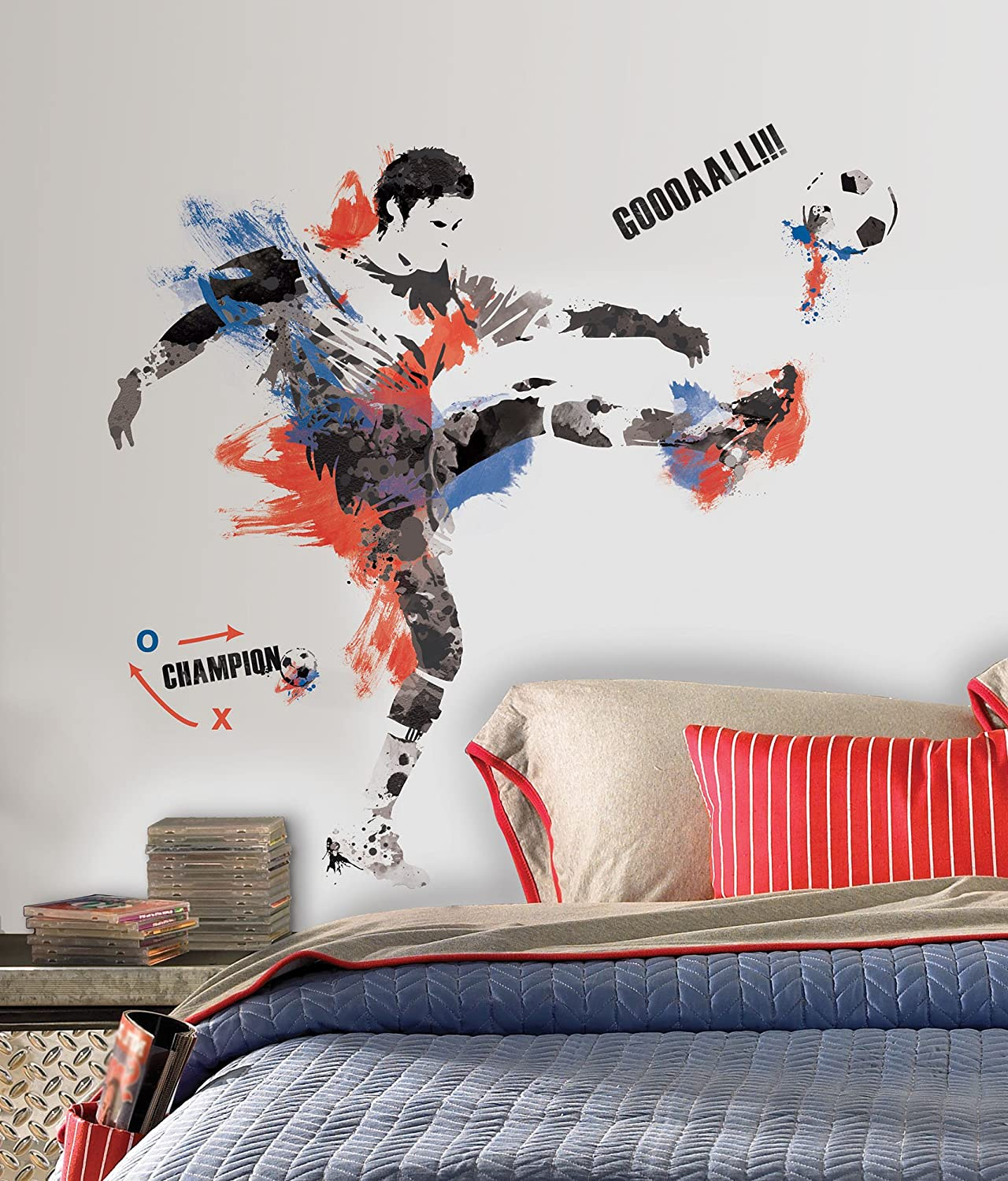 Superbe RoomMates RMK1312SCS Sports Silhouettes Peel U0026 Stick Wall Decals    Decorative Wall Appliques   Amazon.com