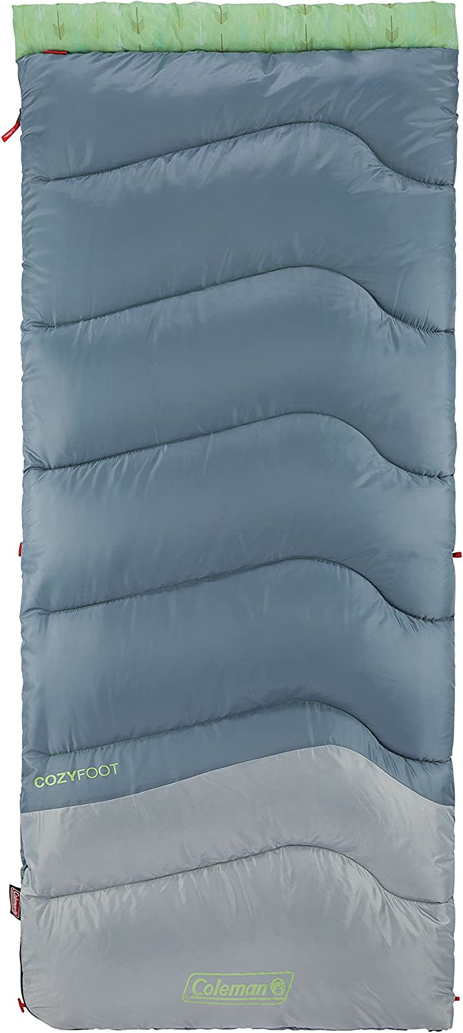 Coleman Cozy Foot Adult Sleeping Bag 40 Degrees , Multicolor