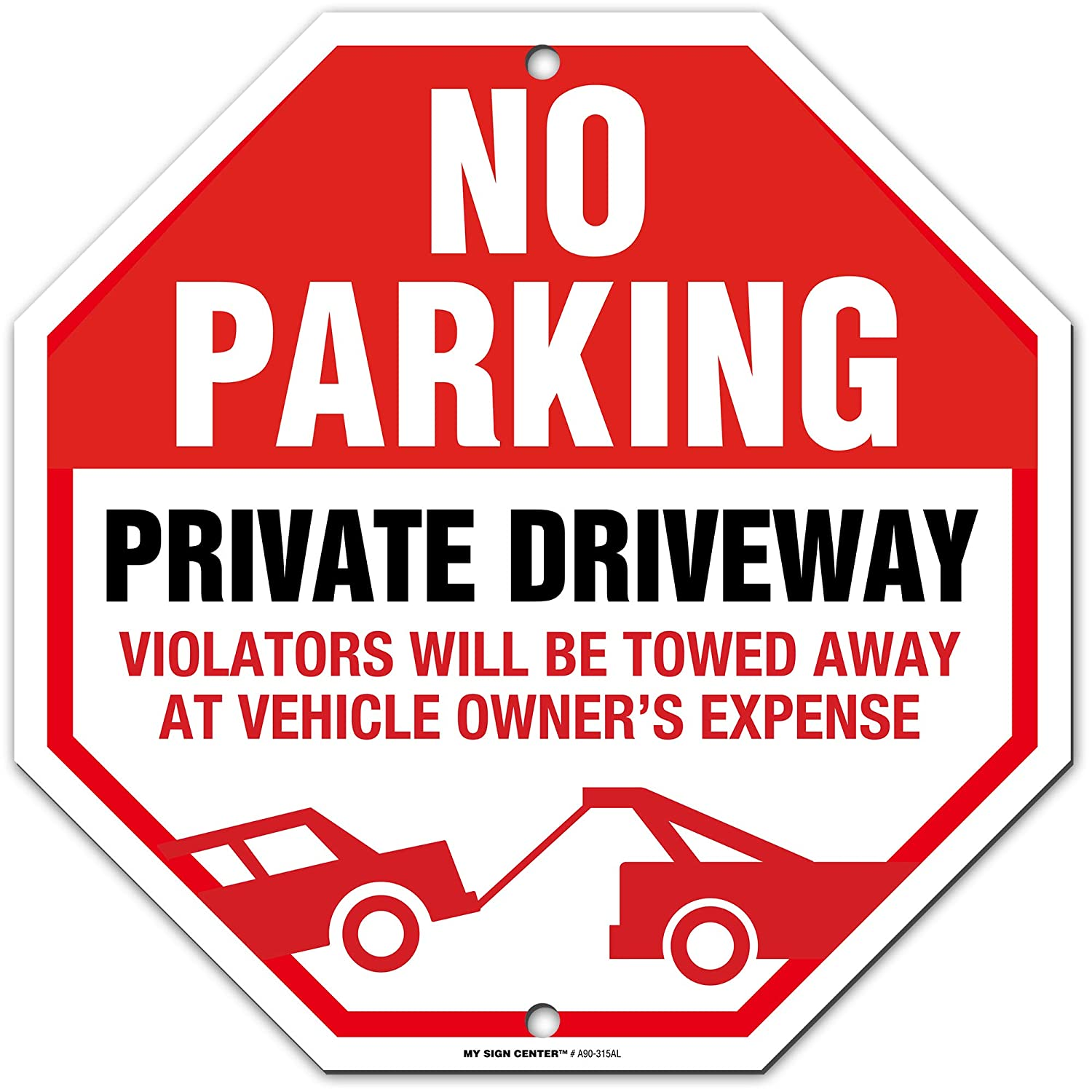 """Tow Away No Parking 9/""""x12/"""" Caution Sign Home Business Office Yard 2 Pack"""