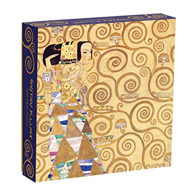 """Galison Gustav Klimt Expectation Puzzle, 500 Pieces, 20"""" x 20"""" – Stunning Puzzle Features One of Klimt's Most Famous Pieces – Challenging, Perfect Family Activity: Galison: Toys & Games"""