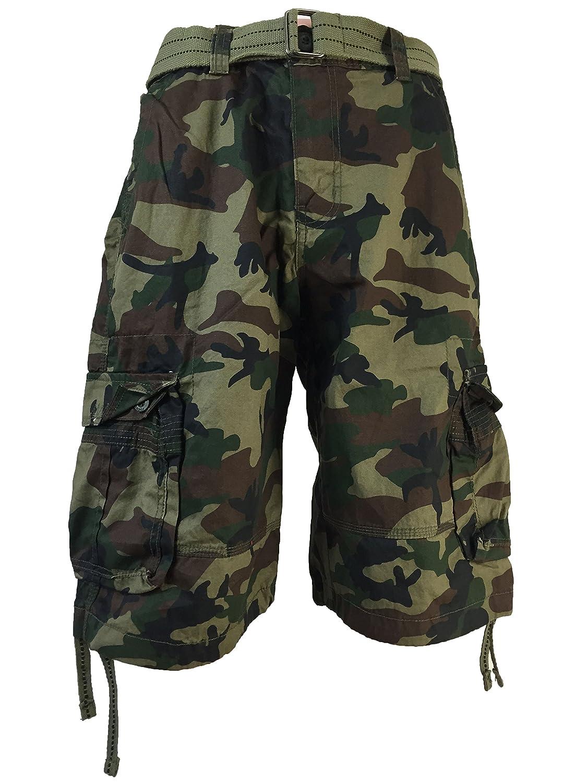 1d87ab1b3f Men's FOCUS Army Camo Cargo Shorts Sizes: 30 - 44 | Amazon.com