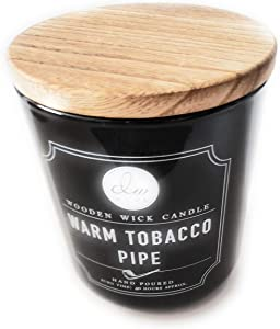 DW Home Wooden Wick Candle, Warm Tobacco Pipe (11.5 oz)