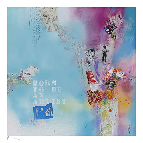Fine Art Giclee Print Born To Be An Artist Ii On Textured Watercolor Art Paper 300g M Amazon Co Uk Handmade