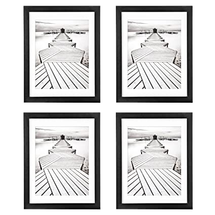 Amazon.com - 11x14 Black Picture Frames 4 Pack, UnityStar Wood Photo ...