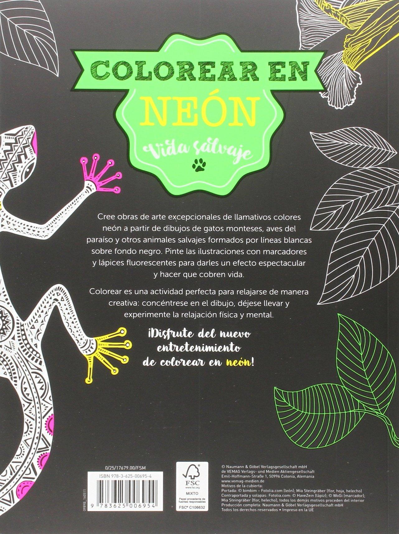 Vida Salvaje. Colorear En Neon (Colorear en neón): Amazon.es: Vv.Aa.: Libros
