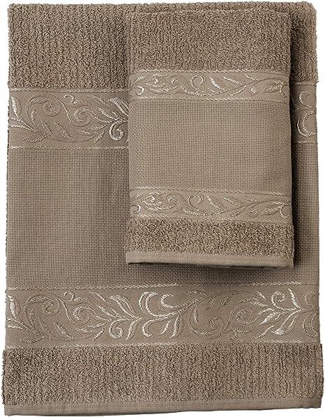 Filet – Juego de toallas de mano con ospite – 100% rizo de algodón ...