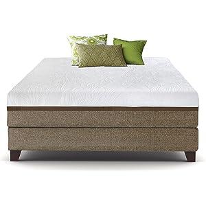 Live & Sleep Ultra Queen Mattress, Gel Memory Foam Mattress, 12-Inch, Cool Bed in a Box, Medium-Firm Advanced Support - Bonus Luxury Pillow