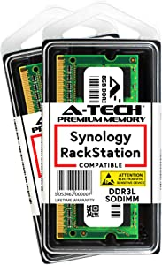 A-Tech 16GB Kit (2 x 8GB) for Synology RackStation RS1219+ RS818RP+ RS818+ NAS Servers - DDR3/DDR3L 1600Mhz PC3L-12800 1.35v SODIMM Memory RAM (Equivalent to Synology RAM1600DDR3L-8GBx2)