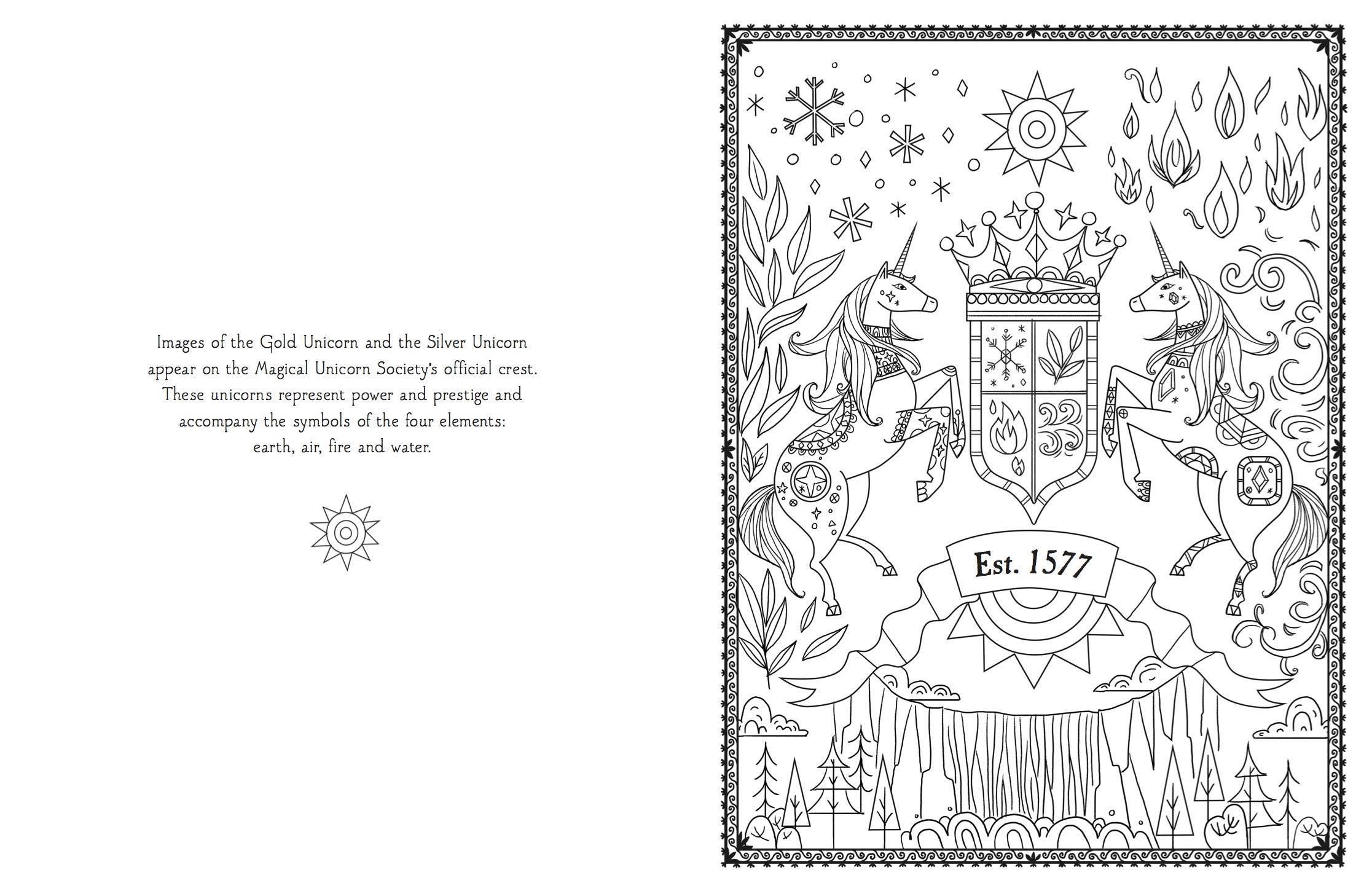 The Magical Unicorn Society Official Colouring Book: Amazon ...