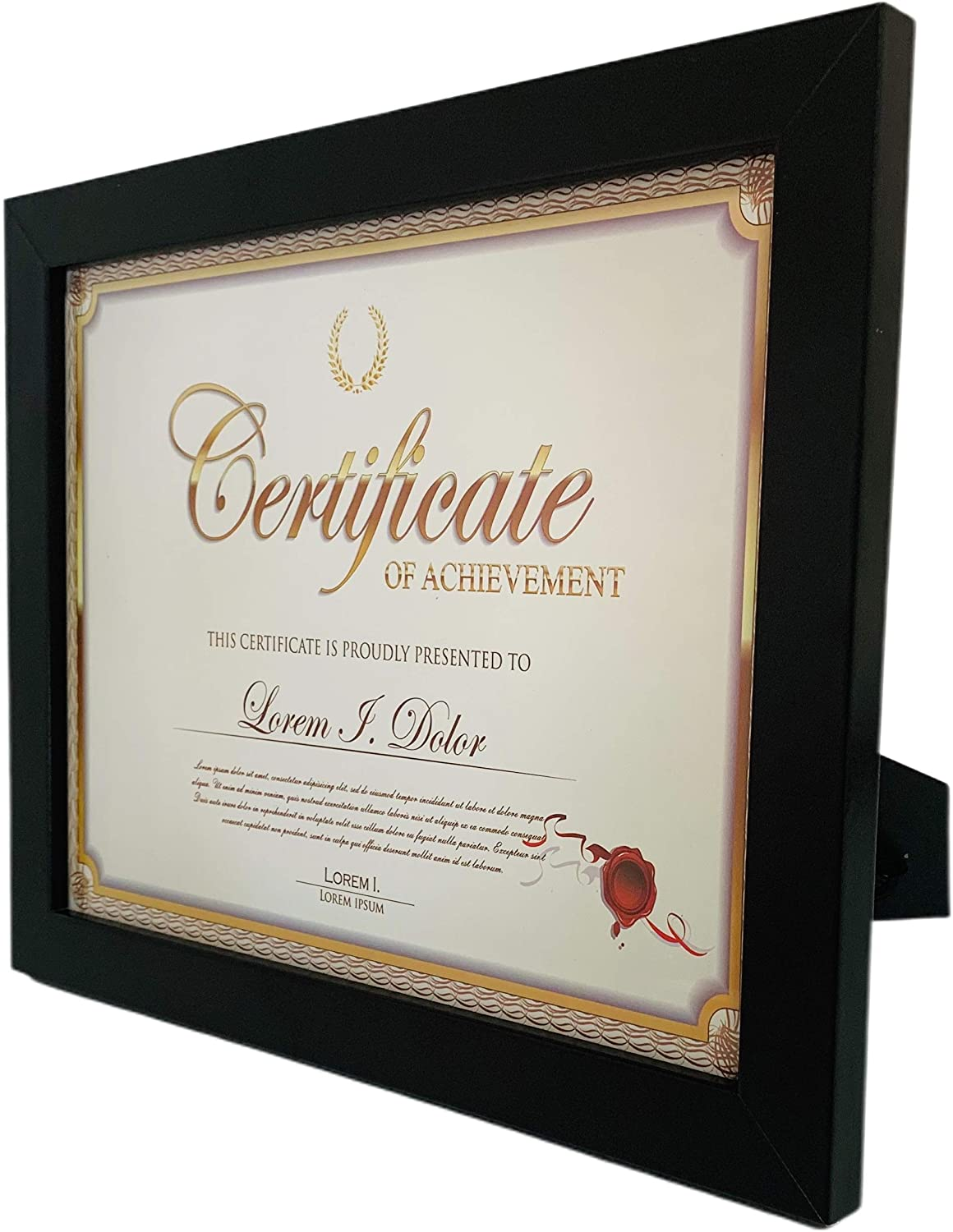 Glass Front Frame Amo Black 8x12 Picture Frame Smooth Finish for Wall or Table 1 inch Wide Border
