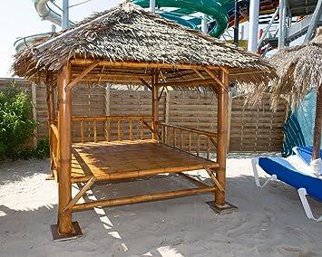 Amazon De Reelaxx Uberdachter Bambus Sala Pavillon Braun