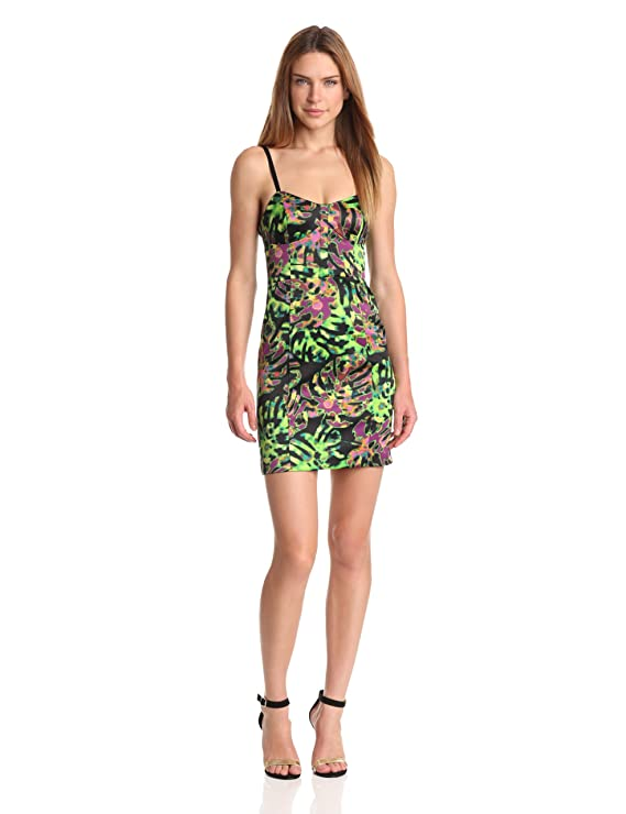 Kensie Womens Tropical Leaves Dress Black Combo 12 At Amazon