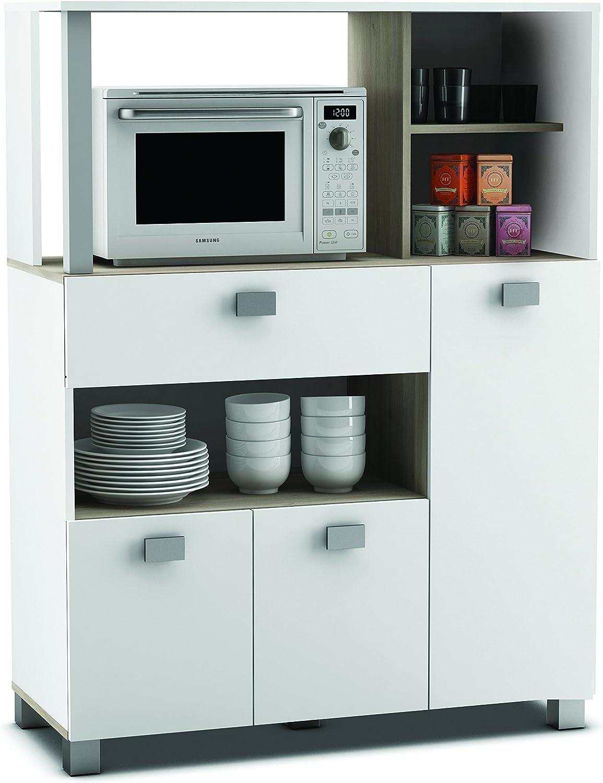 habeig Küchenschrank 19 weiß Küchenregal Küchenmöbel Mikrowellenschrank  Buffetschrank Küche