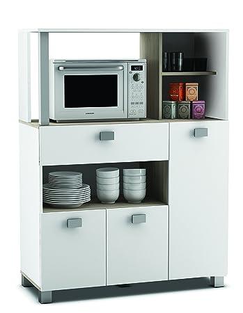 Küchenmöbel maße  habeig Küchenschrank 146 weiß Küchenregal Küchenmöbel ...