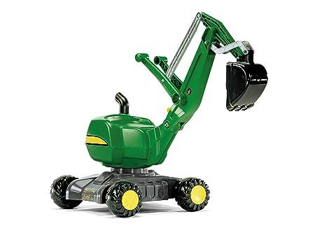 Rolly Toys rollyDigger John Deere (Kunststoffbagger, Schaufelbagger, für Kinder von 3 bis 5 Jahren, Farbe grün) 421022