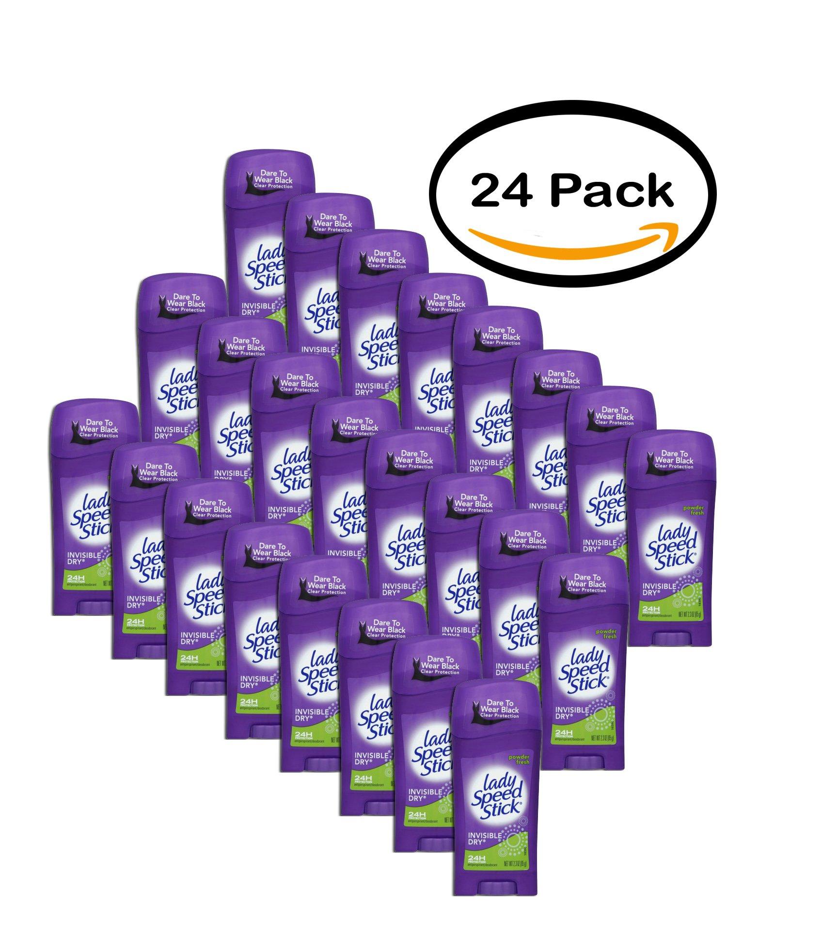 PACK OF 24 - Lady Speed Stick Invisible Dry Antiperspirant/Deodorant Powder Fresh, 2.3 OZ