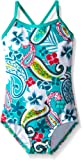Kanu Surf Girls' Layla Beach Sport Banded 1 Piece Swimsuit