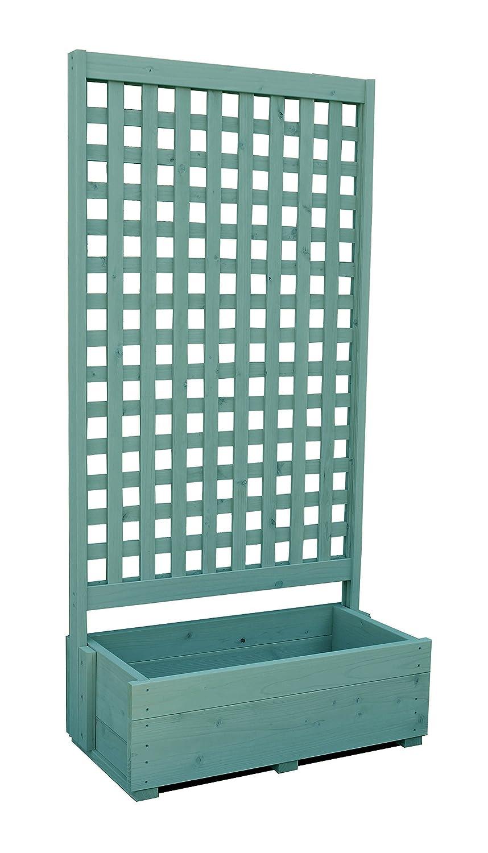 規格型 プランター付きフェンス 【フェンス+プランター】 高さ1800×幅880×奥行432mm フェンスデザイン:格子B GG(グレイッシュグリーン)色 B072ZB5Z8Y 16416 GG(グレイッシュグリーン) GG(グレイッシュグリーン)