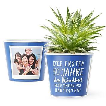 50 Geburtstag Geschenk Blumentopf O16cm Lustige