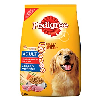 Buy Pedigree Adult Dry Dog Food, Chicken & Vegetables, 20kg Pack