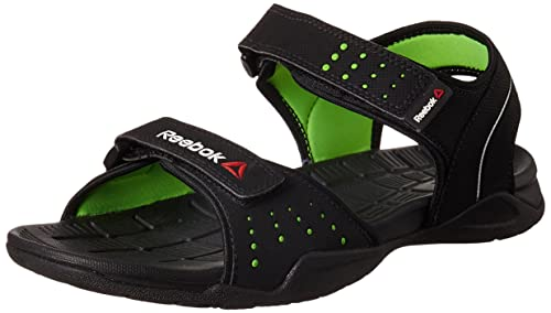 d41b2b7e9 Reebok Men s Z Connect Black and Neon Green Sandals and Floaters - 6  UK India