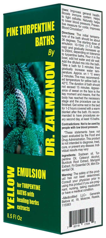 Amazon.com : Zalmanov`s Turpentine Bath Emulsion - (Yellow) 250ml ...