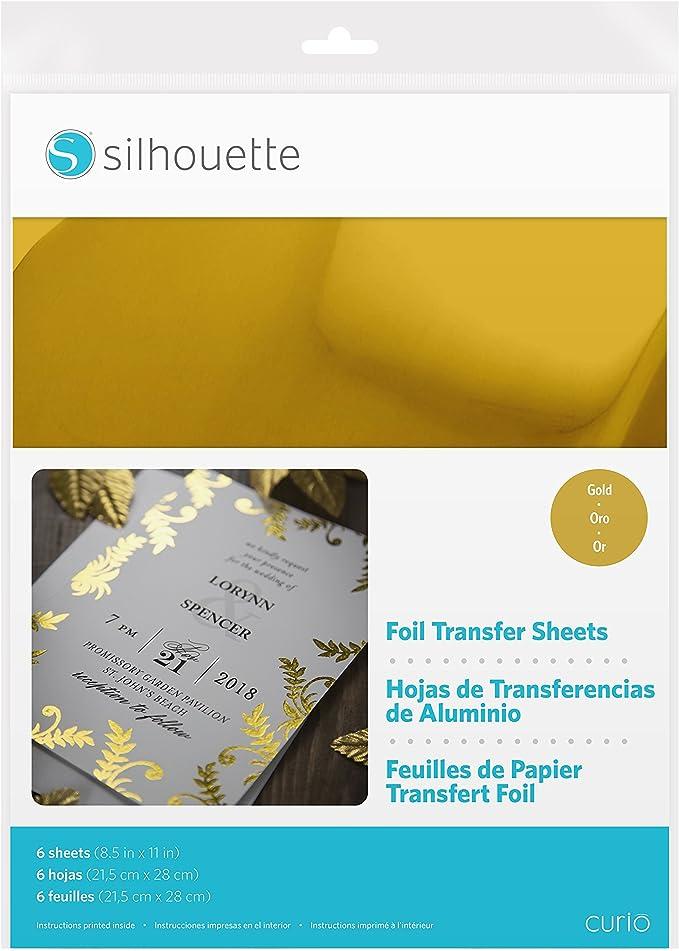 Foil Tansfer Cricut Transfer Sheets 8 ct Gold