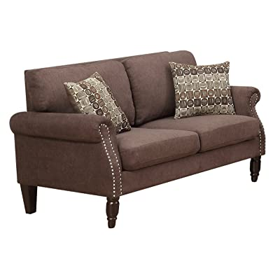 Furniture World Lincoln Love Seat, Chocolate