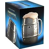 Innovee Beer Mug – Jarra de Acero Inoxidable Premium/Taza de Café con Tapa Bonus – 500ml de Doble Pared con Aislamiento de Aire – Sin Condensa – Puede Ser Congelado