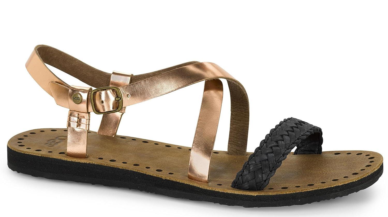 b42469e0e3e UGG Women's Jordyne Rose Gold Leather Sandal 12 B (M): Amazon.ca ...