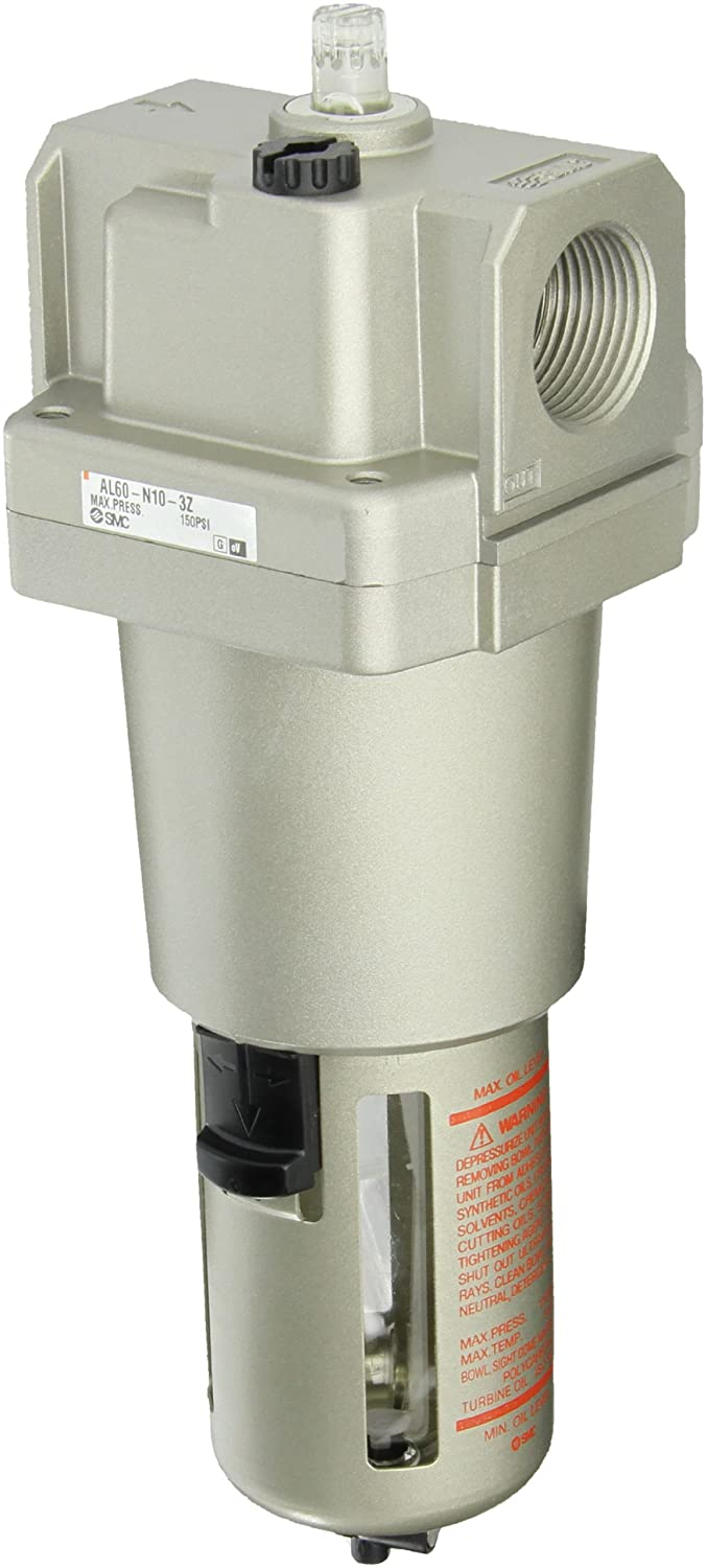 SMC AL60-N10-3Z Lubricator, Polycarbonate Bowl with Drain Cock, 135 mL Oil Capacity, 220 L/min Dripping Flow Rate, 1 NPT by SMC Corporation  B009WD1AN2