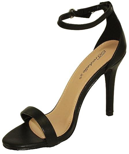 328703e5714 Amazon.com | Breckelle's Women's Sydney-46 Stiletto Ankle Strap High ...