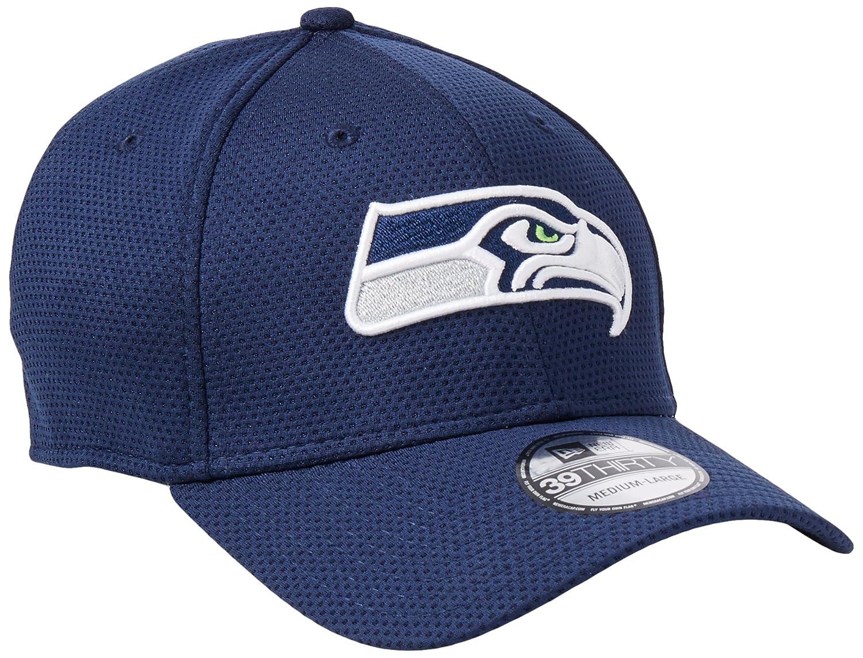 d0138fed Amazon.com : New Era Seattle Seahawks Navy On-Field Sideline Tech 39THIRTY  Flex Fit Hat/Cap : Clothing