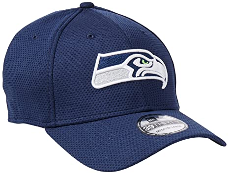 buy online b178d bd685 New Era Seattle Seahawks Navy On-Field Sideline Tech 39THIRTY Flex Fit Hat  Cap