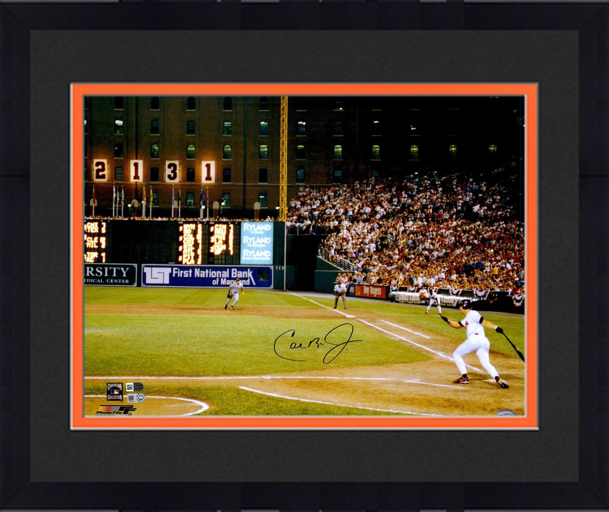 "Framed Cal Ripken Jr. Baltimore Orioles 2131 Autographed 16"" x 20"" Photograph Fanatics Authentic Certified"
